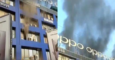 Fire in Hafeez Center Plaza